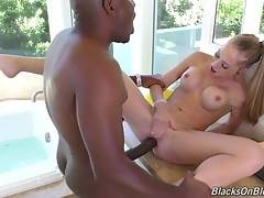 She`s pounded until Dingo busts, and whatever doesn`t get all over her face, Shawna swallows like a good little whore.