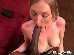 Busty White Chick Sucks Big Black Dick 1