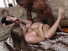 Great cuckold scene! More Jojo and definitely more Jax cuckolding white boys
