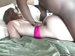 Big shaped redhead milf has fun with turned on black dude.