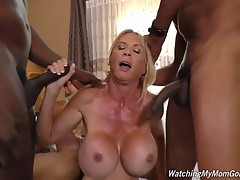 Brooke Tyler has an interesting relationship with her step-son. It`s one many step-sons would love to have. You see, Brooke is a `hot coog` with a rack that makes it difficult to maintain eye-contact with her during a normal conversation. She`s a slut, to