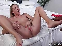 Hollie Mack begs her black fucker to cum inside her pussy.
