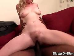 Slutty Tegan Riley greatly enjoys passionate black cock riding.