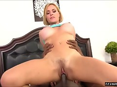Blonde With Big Tits Loves A Black Cock Inside Her