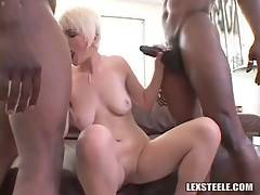 Two Black Guys Attack Cute Blonde 1